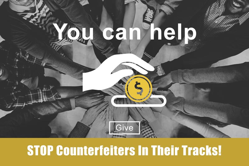 ACEF Donate an Stop Counterfeiters in their Tracks!