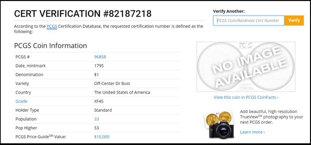 ACEF PCGS Certification
