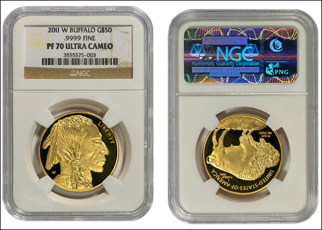 ACEF Fake Buffalo Gold Coin in Fake NGC Holder