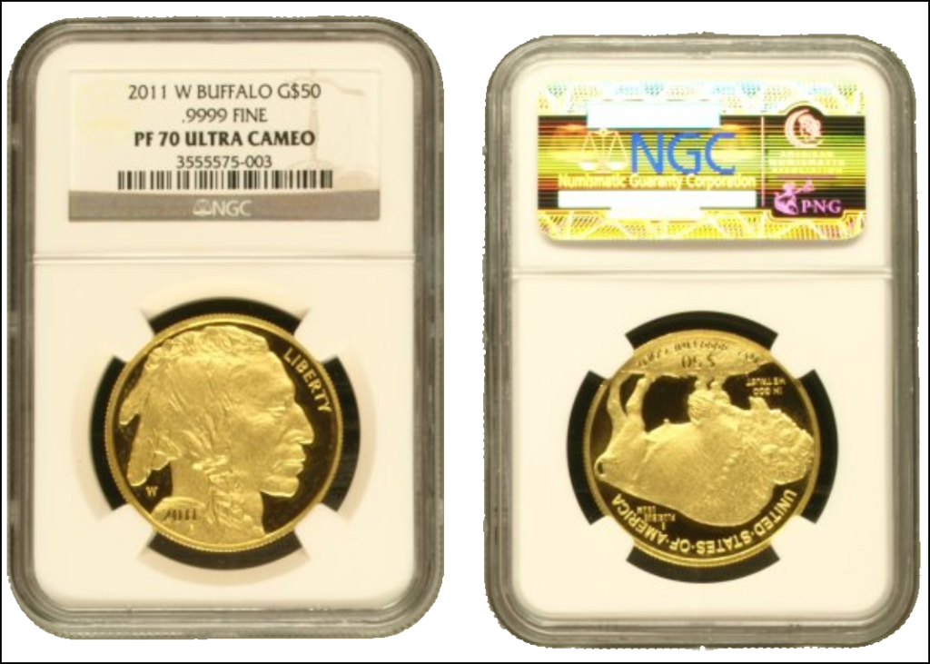 ACEF Real Buffalo Gold Coin in Real NGC Holder