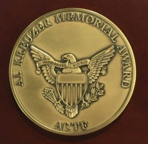 Alan Kreuzer Memorial Award Medal
